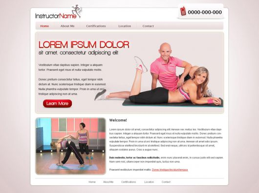 Fitness Website Template 23