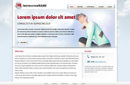 Fitness Website Template 24