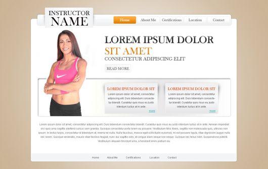 Fitness Website Template 25