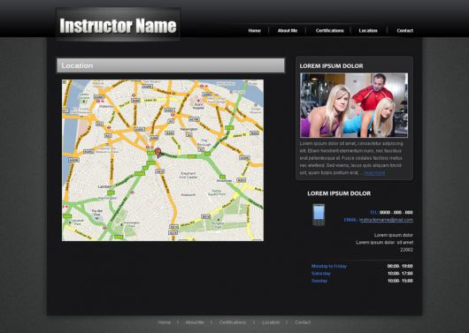 Fitness Website Template 26