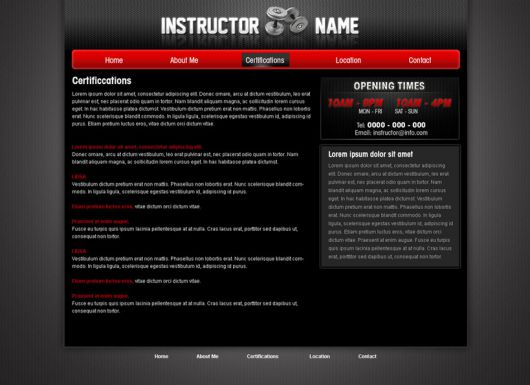 Fitness Website Template 28