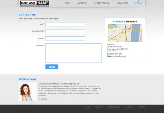 Fitness Website Template 29