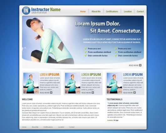 Fitness Website Template 30