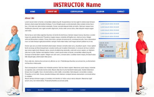 Fitness Website Template 31