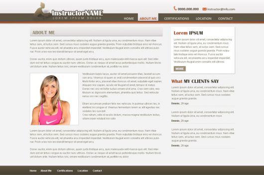 Fitness Website Template 32