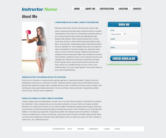 Fitness Website Template 33