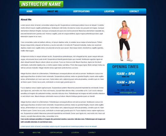 Fitness Website Template 34