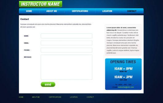 Fitness Website Template 34