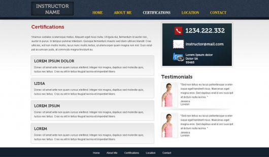 Fitness Website Template 35