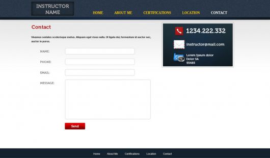 Fitness Website Template 35