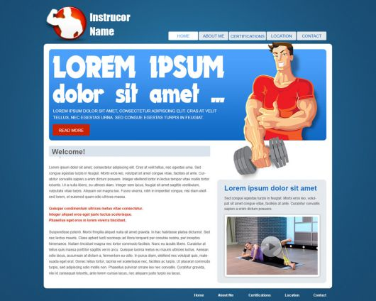 Fitness Website Template 37