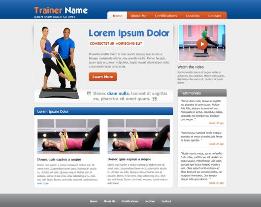 Fitness Website Template 38