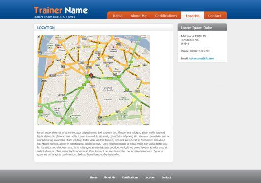 Fitness Website Template 38