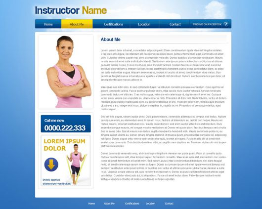 Fitness Website Template 39