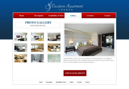 Holiday Home Website Template 4