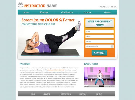 Fitness Website Template 40