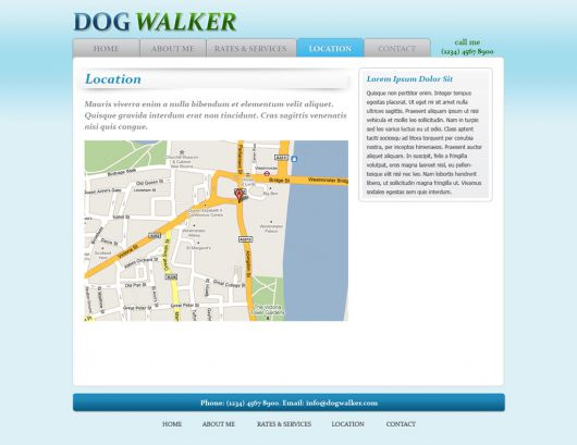 Dog Walking Website Template 46
