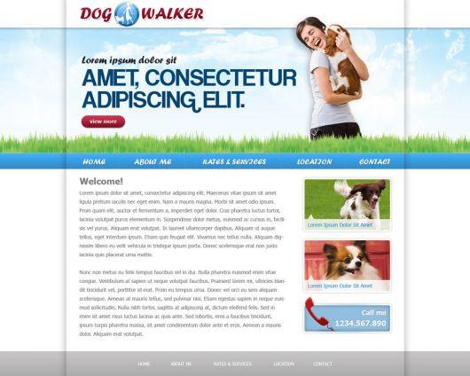 Dog Walking Website Template 48