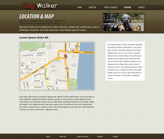 Dog Walking Website Template 49