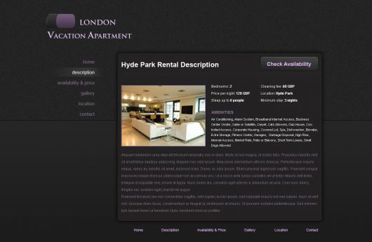 Holiday Home Website Template 5
