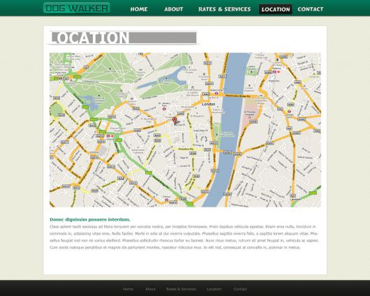 Dog Walking Website Template 50