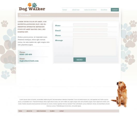 Dog Walking Website Template 51