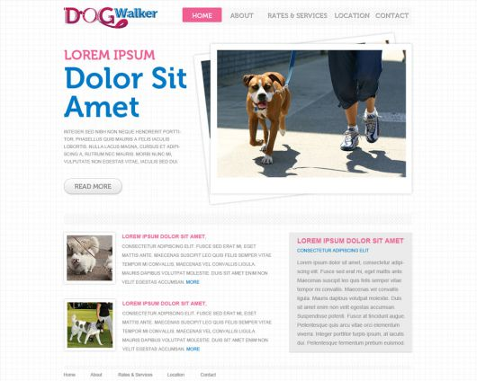 Dog Walker Template 52