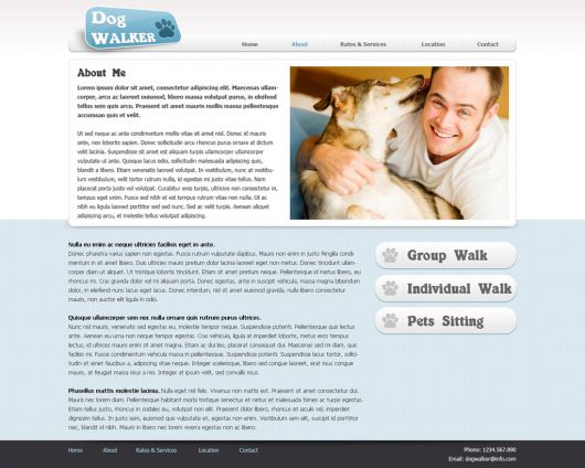Dog Walker Template 54