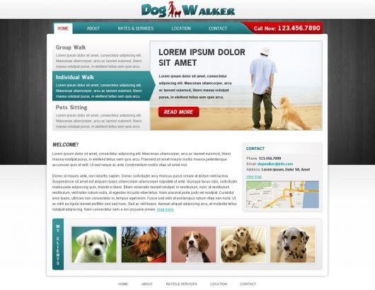 Dog Walking Website Template 55