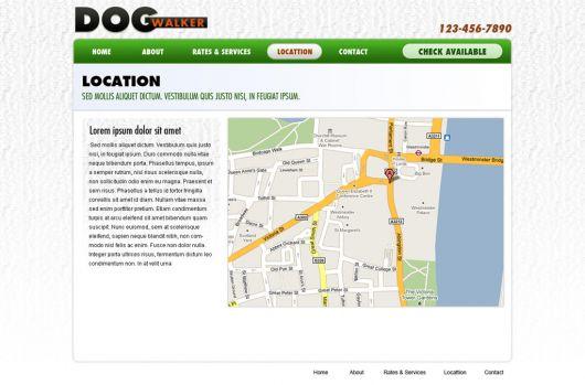 Dog Walking Website Template 56