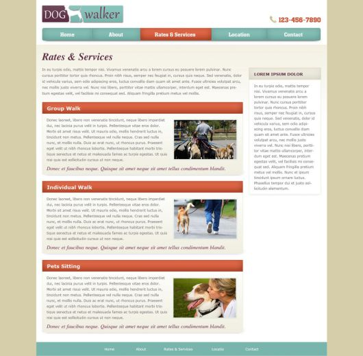 Dog Walking Website Template 57