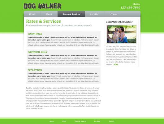 Dog Walking Website Template 58