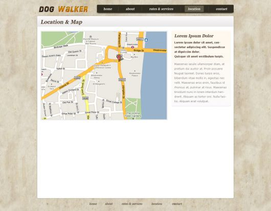 Dog Walking Website Template 59