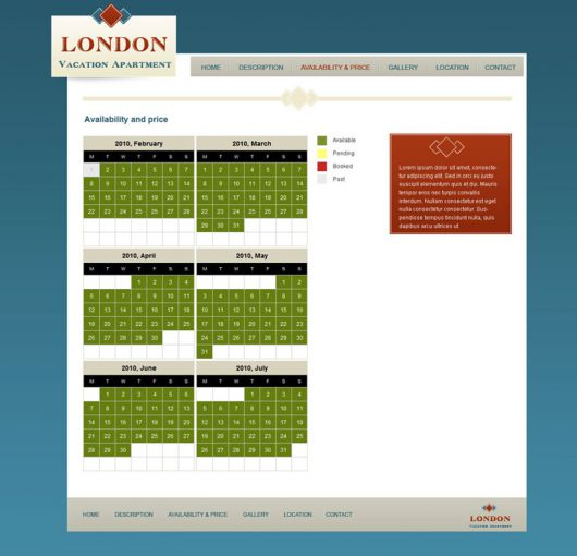 Vacation Rental Website Template 6