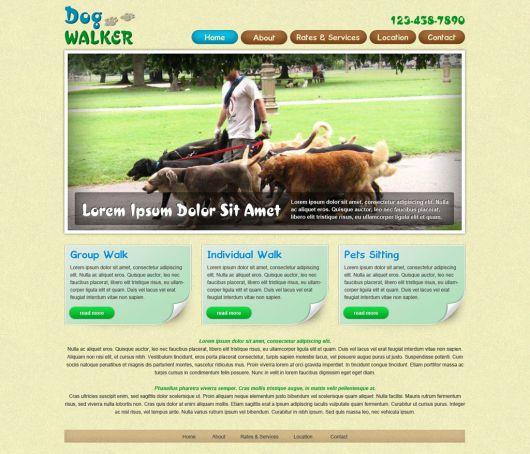 Dog Walking Website Template 60