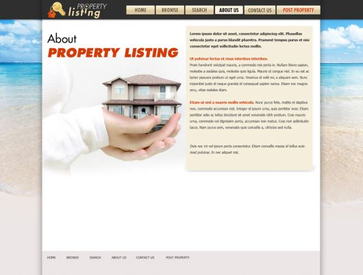Real Estate Website Template 64