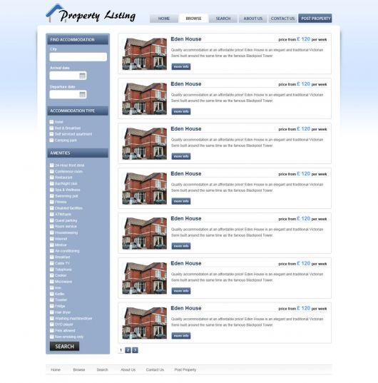 Real Estate Website Template 65
