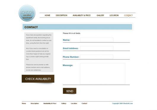 Vacation Rental Website Template 7