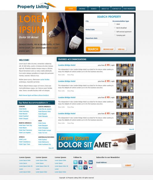 Real Estate Website Template 72