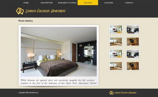 Vacation Rental Website Template 8