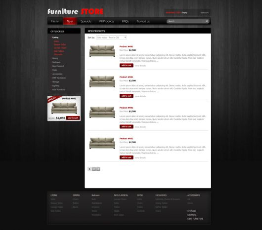 Online Store Template 83
