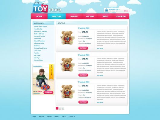 eCommerce Website Template 84