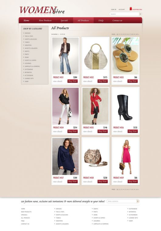 Shopping Website Template 85