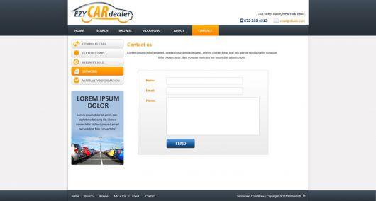 Car Website Template 88