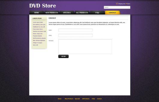 DVD Online Store Template 90