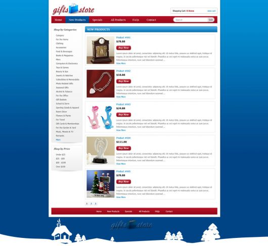 Gifts Shopping Web Template 91