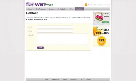 free opt in form templates - flower online store template free online store web