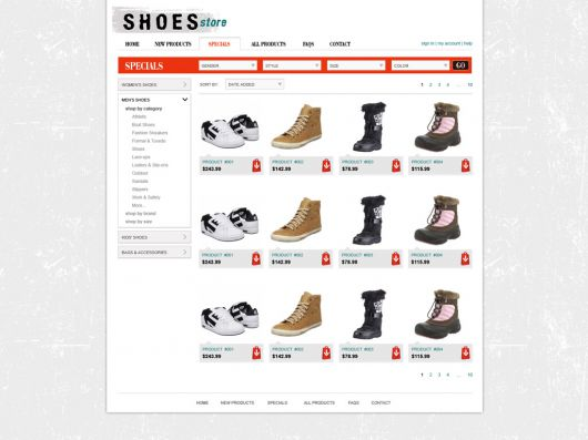 Shopping Cart Website Template 93