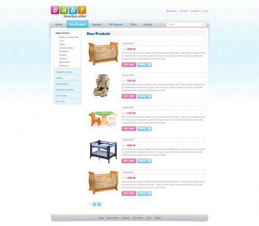Baby Furniture Store Template 95