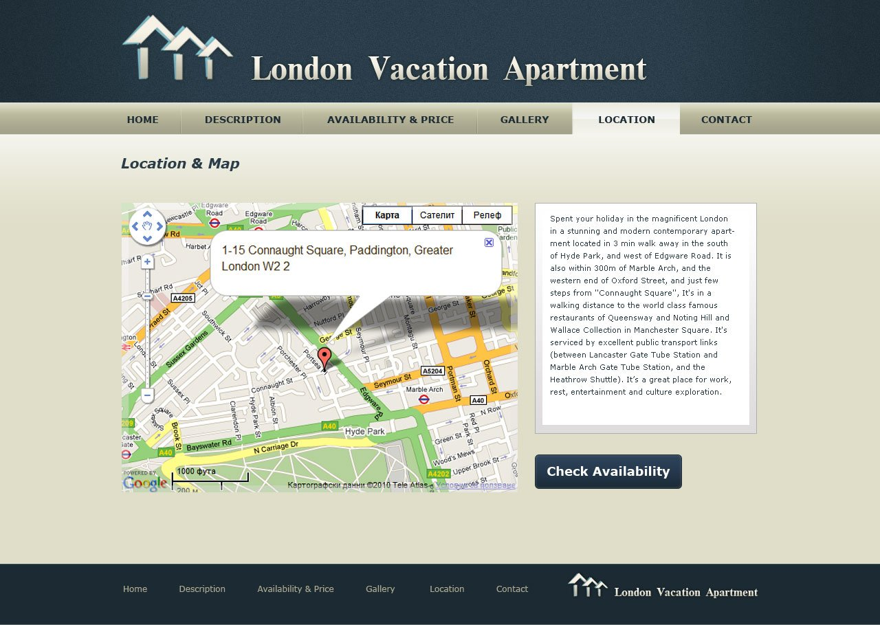 vacation home website template 1 free psd templates